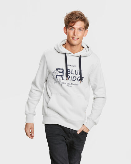 SWEAT-SHIRT BLUE RIDGE HOODED HOMME Gris clair
