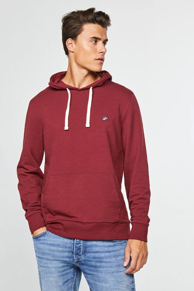 Sweat-shirt à capuchon homme Bordeaux
