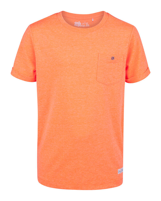 T-SHIRT ONE POCKET UNISEX KIDS Orange