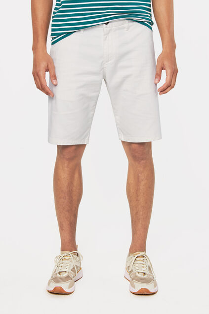 Long short chino homme Blanc cassé