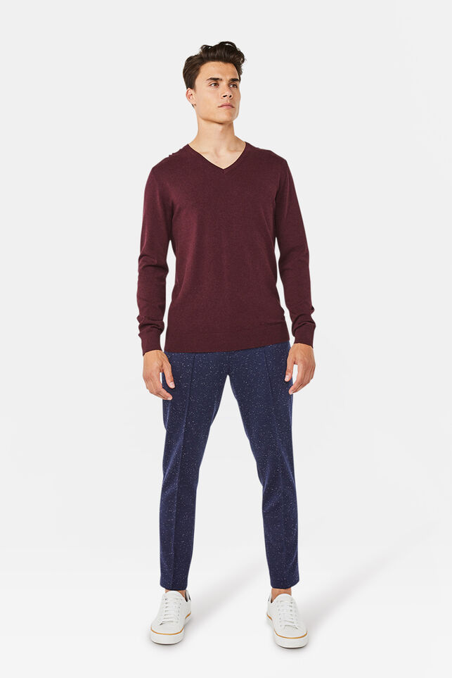 Chino stretch jersey slim fit homme Bleu marine