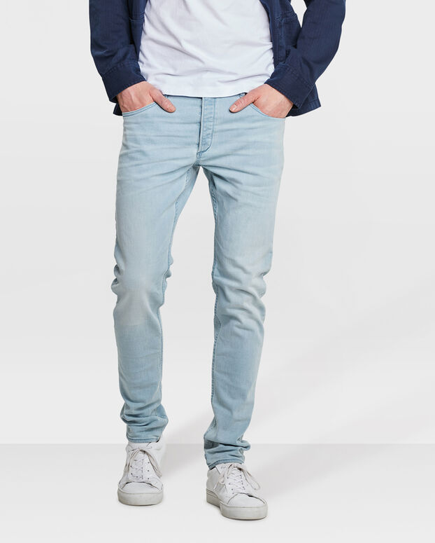 JEANS SKINNY TAPERED SUPER STRETCH HOMME Bleu eclair