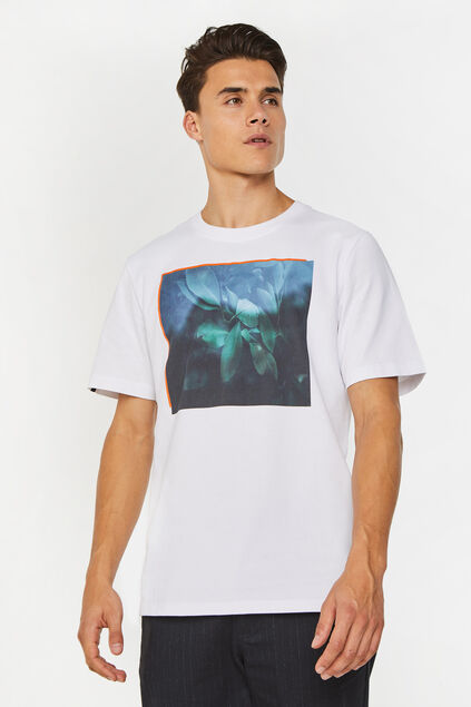 T-shirt à application homme Blanc