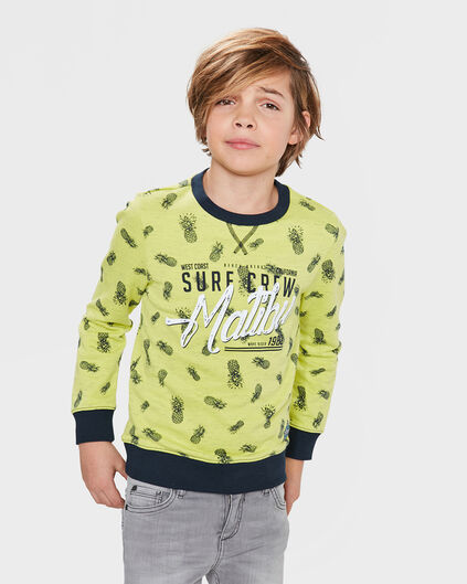 SWEAT-SHIRT PINEAPPLE PRINT GARÇON Jaune