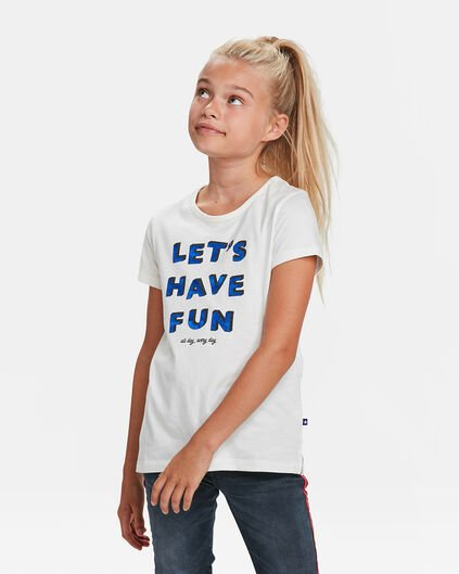 T-SHIRT FUN PRINT FILLE Blanc