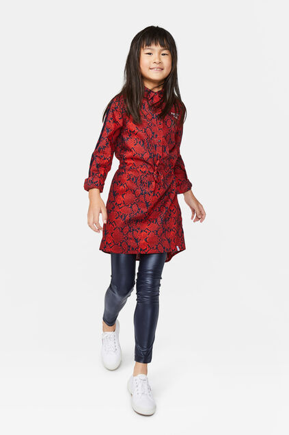 Robe chemisier fille Rouge vif