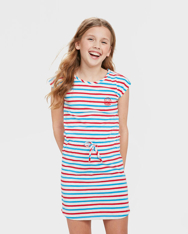 TUNIQUE STRIPED FILLE Rouge