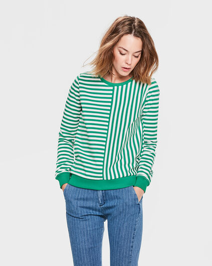 SWEAT-SHIRT STRIPED FEMME Vert