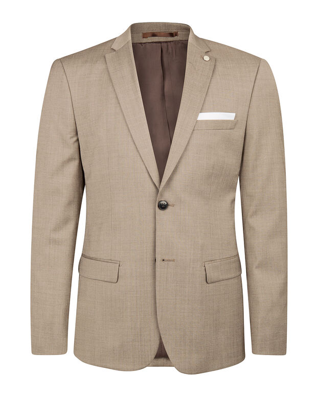 BLAZER SLIM FIT COLOMBO HOMME Brun clair