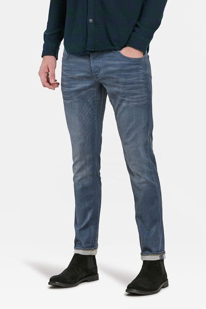 JEANS SLIM TAPERED STRETCH HOMME Gris