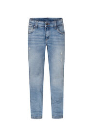 Jeans slim fit rip and repair garçon_Jeans slim fit rip and repair garçon, Bleu
