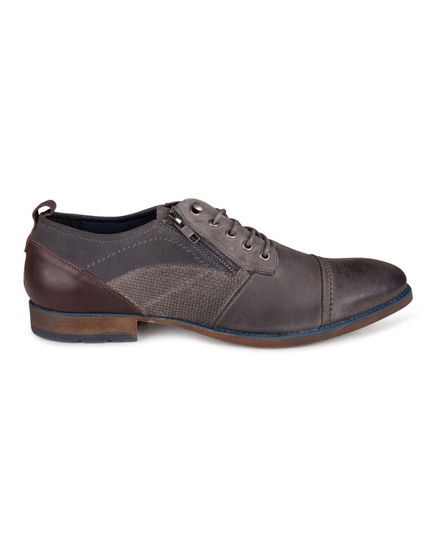 CHAUSSURES A LACETS REAL LEATHER HOMME Gris clair