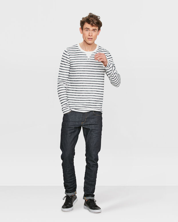 T-SHIRT BLUE RIDGE STRIPE HOMME Blanc