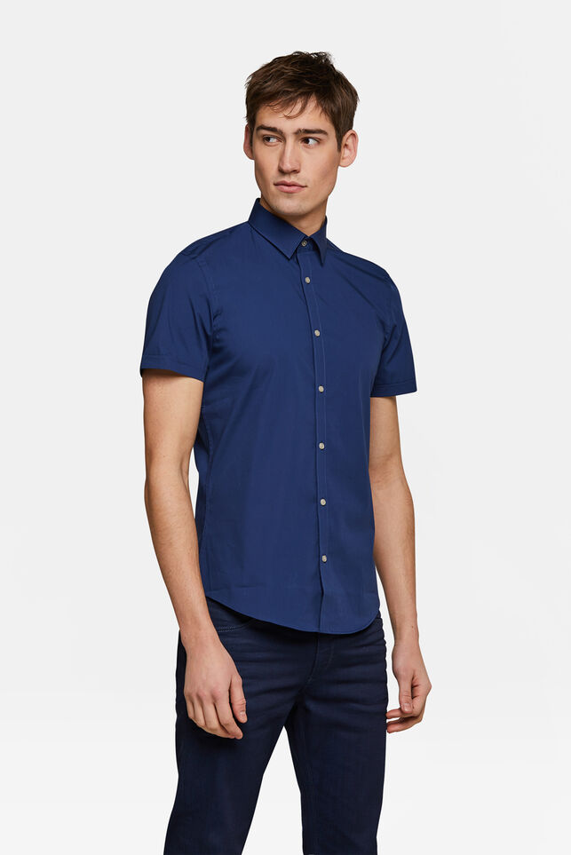 Chemise slim fit stretch homme Bleu