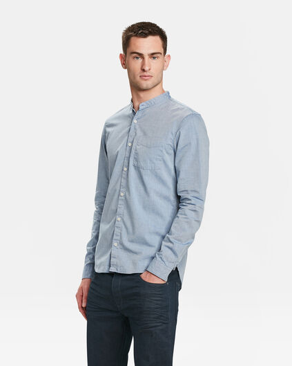 CHEMISE SLIM FIT CHAMBRAY HOMME Bleu eclair