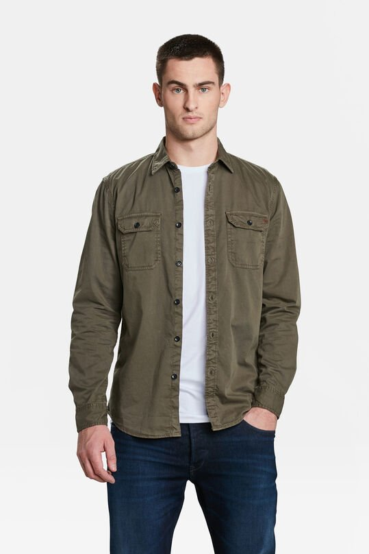 CHEMISE RELAXED FIT HOMME Vert armee