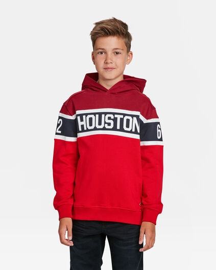 SWEAT-SHIRT HOUSTON  PRINT CAPUCHON GARÇON Rouge
