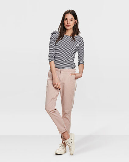 PANTALON CHINO RELAXED FIT FEMME Rose saumon