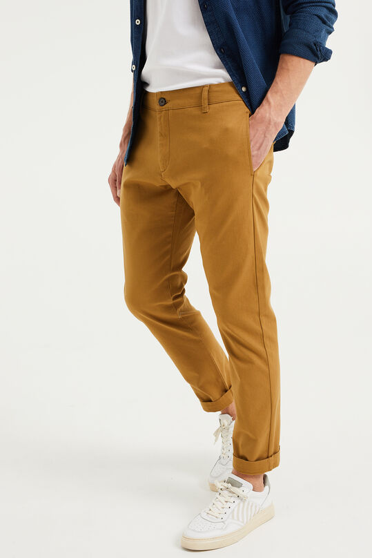 Chino slim fit homme Kaki