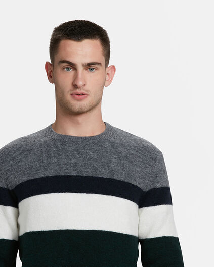 PULL COLOUR BLOCK HOMME Gris