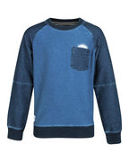 SWEAT-SHIRT RAGLAN SLEEVE GARÇON_SWEAT-SHIRT RAGLAN SLEEVE GARÇON, Indigo