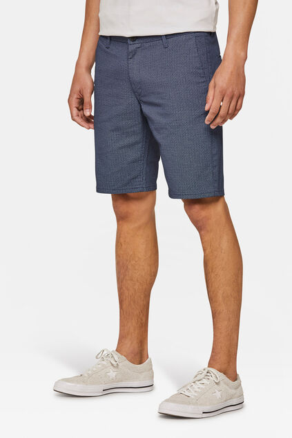 Short chino regular fit à motif homme Bleu marine