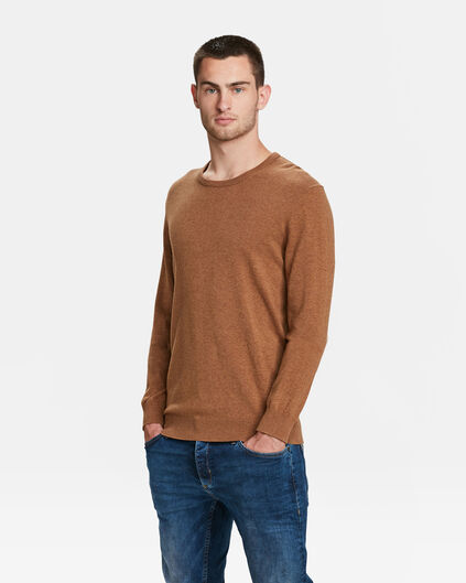 PULL HOMME Brun clair