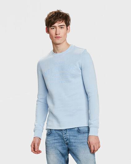 SWEAT-SHIRT MELBOURNE HOMME Bleu pastel
