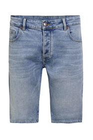 Short denim regular fit homme_Short denim regular fit homme, Bleu eclair