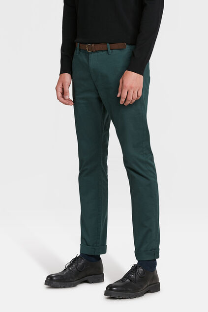 CHINO SKINNY FIT HOMME Vert mousse