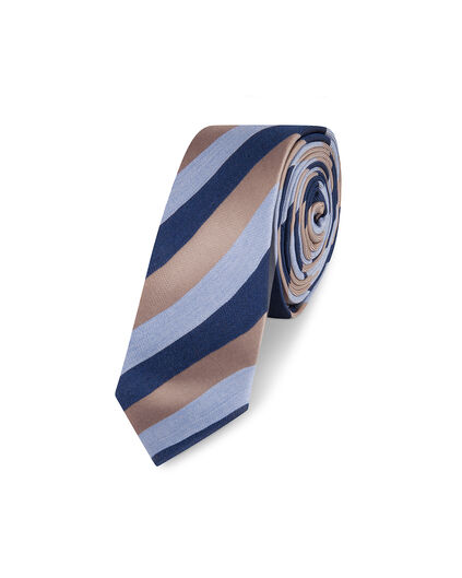 CRAVATE STRIPED HOMME Bleu marine
