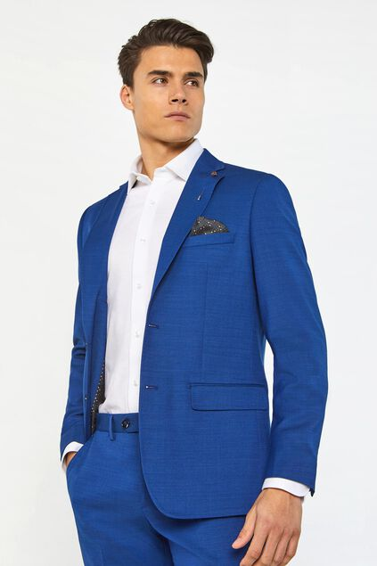 Blazer regular fit Johnson homme Bleu