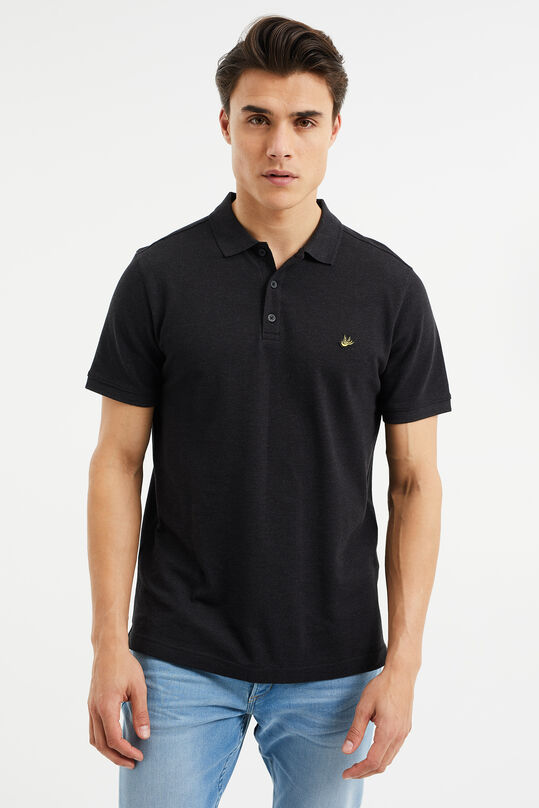 Polo slim fit homme Noir