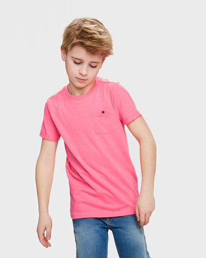 T-SHIRT ONE POCKET UNISEX KIDS Rose