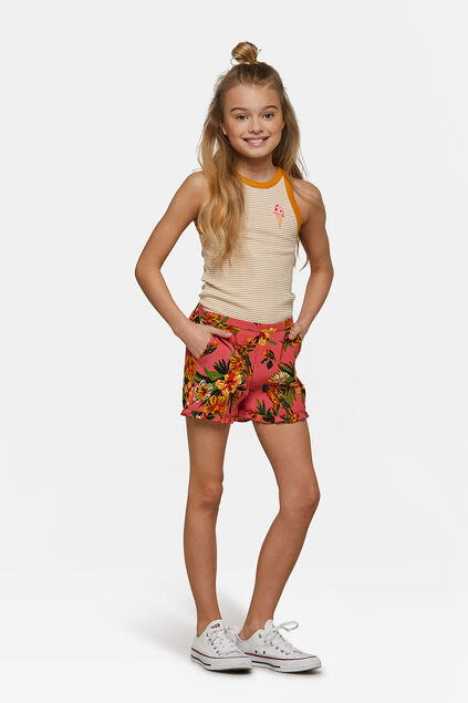 Short ruffle fille Orange