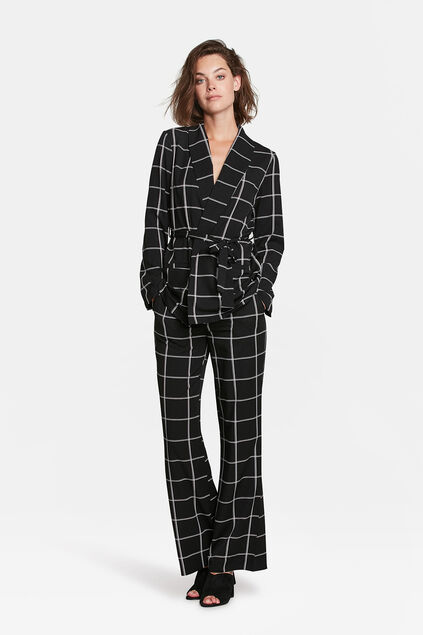 COSTUME SLIM FIT CHECKED FEMME