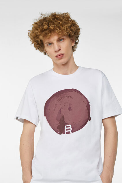 T-shirt à application imprimée homme Blanc