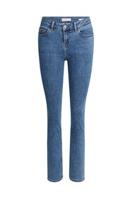 Jeans mid rise slim fit super stretch femme_Jeans mid rise slim fit super stretch femme, Bleu