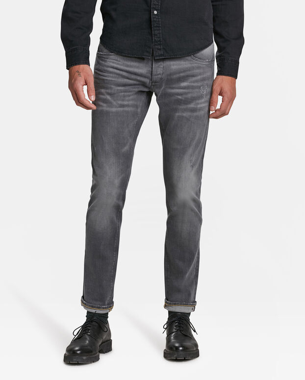 JEANS SLIM TAPERED SELVEDGE HOMME Gris