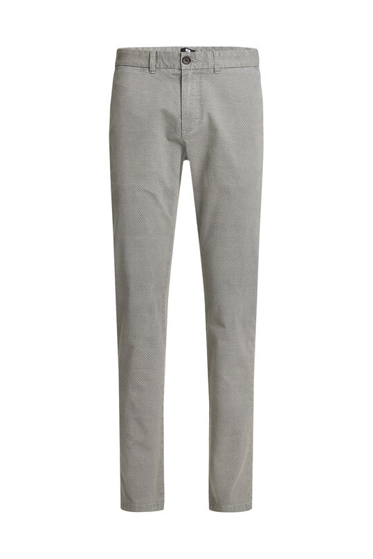 Chino slim fit à motif homme Gris