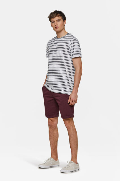 BERMUDA REGULAR FIT CHINO HOMME Bordeaux