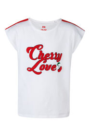 T-shirt Cherry Love fille_T-shirt Cherry Love fille, Blanc