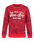 SWEAT-SHIRT TROPICAL BIRD PRINT GARÇON_SWEAT-SHIRT TROPICAL BIRD PRINT GARÇON, Rouge