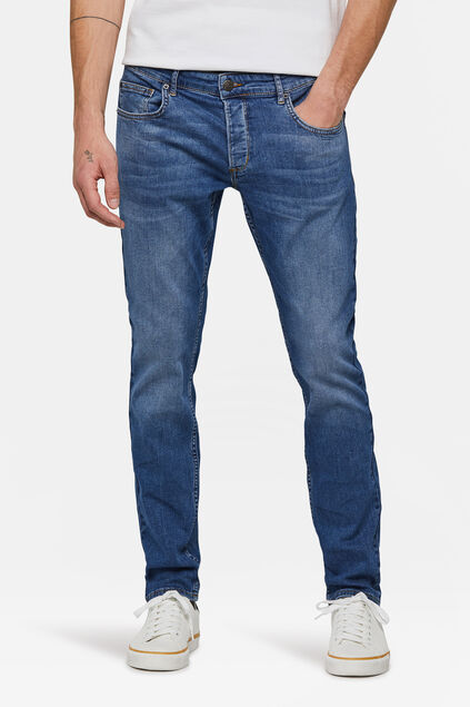 Jeans slim fit tapered homme Bleu