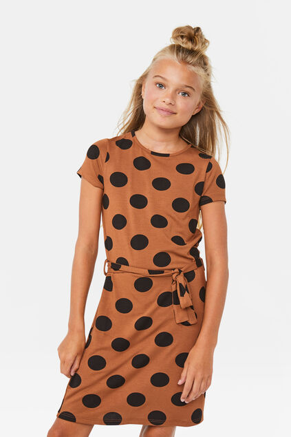Robe à motif pois fille Multicolore
