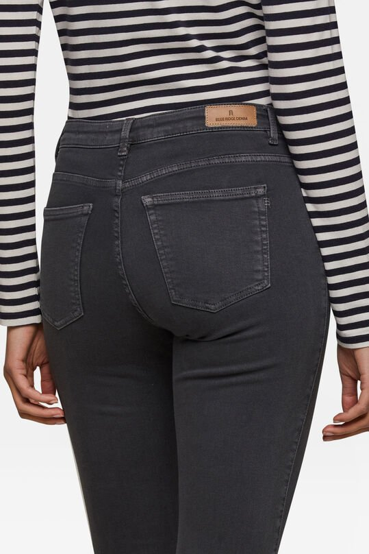 Jean mid rise skinny femme Gris clair