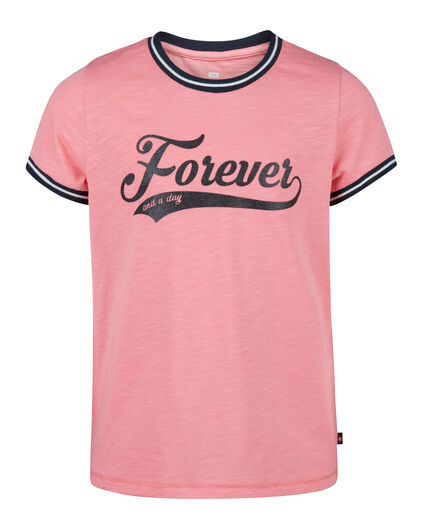 T-SHIRT FOREVER PRINT FILLE Rose