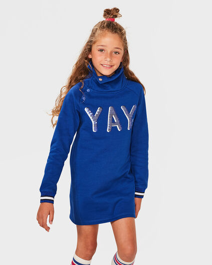 ROBE SWEATER YAY FILLE Bleu