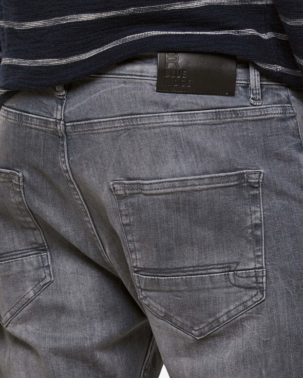 Jeans relaxed fit straight leg homme Gris clair