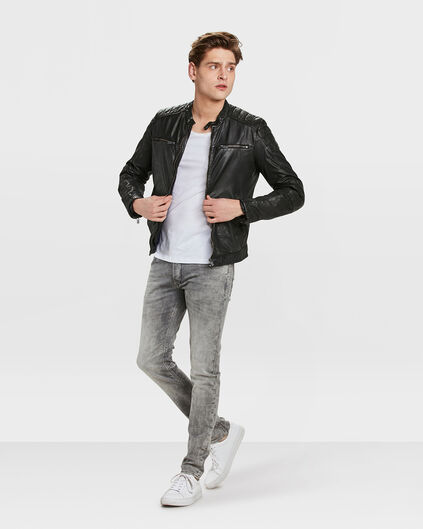 VESTE GOAT LEATHER HOMME Noir